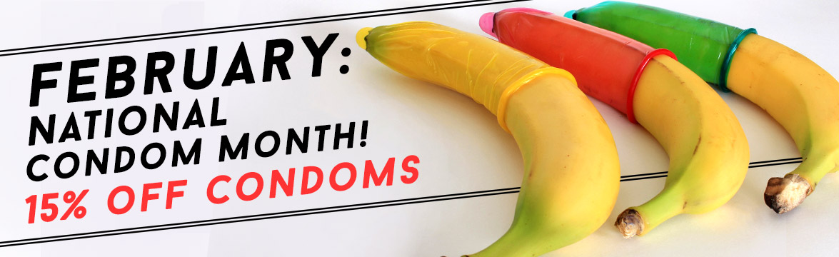 15% Off National Condom Month image.